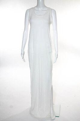 Lanvin Ivory Cotton Sleeveless Round Neck Maxi Dress Size Medium New
