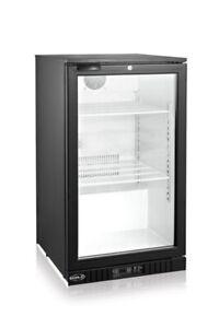 Réfrigérateur commercial noir vitré neuf - Distomatic