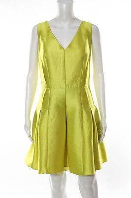 Carmen Marc Valvo Yellow Limoncello Dress Size 14 New $550 10214638