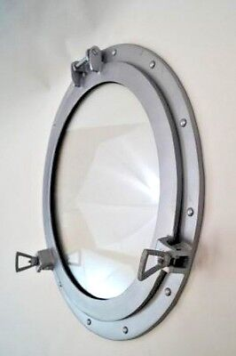 "20"" Porthole Window Aluminum Brush Finish ~ Ship Cabin Porthole ~ Nautical Decor"