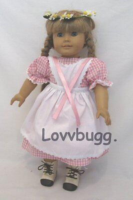 Kirsten Birthday Dress Set for 18 inch American Girl Kirsten with Daisy Crown Swedish Pioneer Era Doll Clothes
