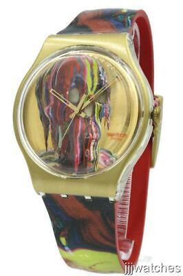 Swiss Swatch Originals WE'REALLGONNADIE(FORRON) Crust/Leather Watch SUOZ115 $80