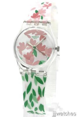 New Swatch Originals JACKARANDA Floral Print Silicone Women Watch 25mm LK355 $70