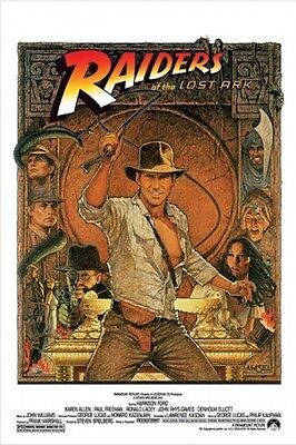 Indiana Jones Raiders Of The Lost Ark 24  X 36  Harrison Ford Large Movie Poster
