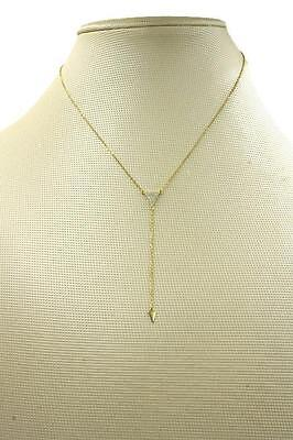Jewelry Sterling Silver Cubic Zirconia Platinum Silver Gold Y-Necklace SP1741GD