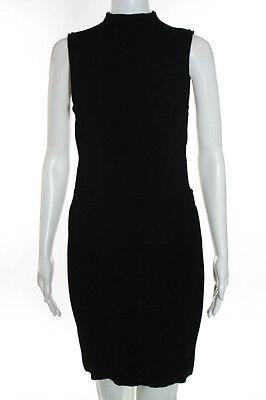 8b86f8998ec Alexander McQueen Black Sleeveless Knit Mini Dress Size Medium New ...