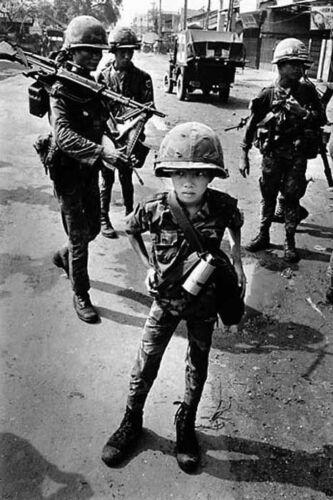 Vietnam War South Vietnamese Little Tiger 10 Year Old Glossy 8x10 Photo