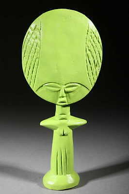 Art Contemporary African Doll Ashanti Green Glow in the Dark