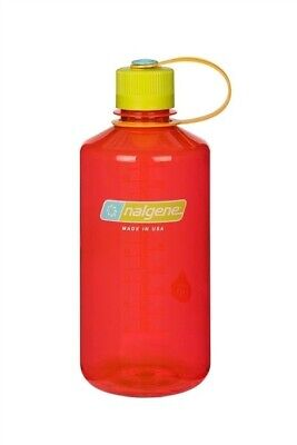Nalgene Narrow Mouth 32oz Loop Top Water Bottle Pomegranate w/Yel. Lid BPA covid 19 (Nalgene Narrow Mouth Loop Top coronavirus)
