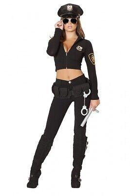Police Cop Kostüm Polizei Größenwahl Hose Top Mütze - Polizei Kostüm Zubehör