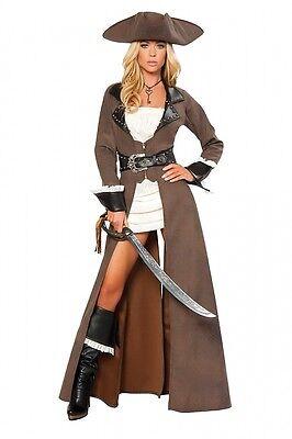 Sexy Piraten Kostüm Piratin Deluxe Freibeuter komplett Größenwahl Karneval  (Deluxe Piraten-kostüm)