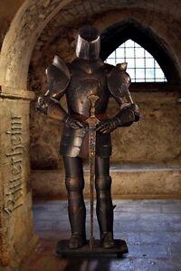 Ritter Ritterrüstung mit Schwert Harnisch ca. 185cm