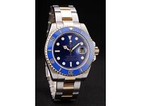 ROLEX SUBMARINER BLUE DIAL SILVER & GOLD STRAP