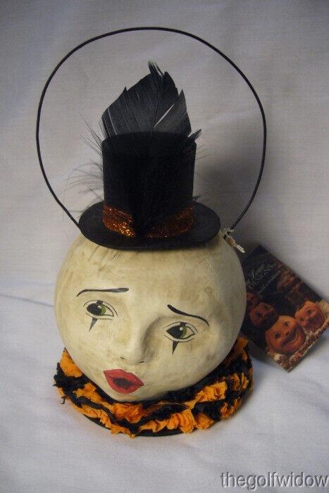 Bethany Lowe Halloween Magic Moon Paper Mache Bucket  no. TJ7784