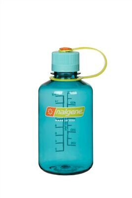 Nalgene Narrow Mouth 16oz Loop Top Water Bottle Cerulean w/Blue Lid BPA covid 19 (Nalgene Narrow Mouth Loop Top coronavirus)