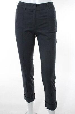 Joseph Dark Gray Cotton Skinny Leg Casual Pants Trousers Size Extra Small