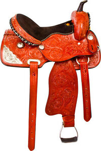 "15""16"" Western Horse Saddle + Tack Silver Barrel Pleasure Trail London Ontario image 4"