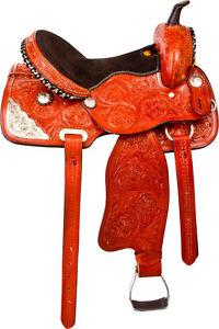 "15"" 16"" WESTERN HORSE SADDLE +TACK SILVER BARREL PLEASURE TRAIL London Ontario image 4"