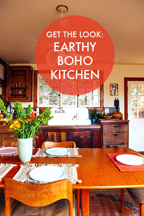 Get the look earthy boho kitchen ebay for Earthy kitchen designs
