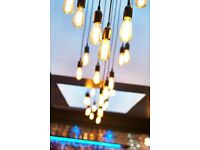 4 SETS RETRO CEILING PENDANT CLUSTER LIGHTS  WITH FILAMENT BULBS