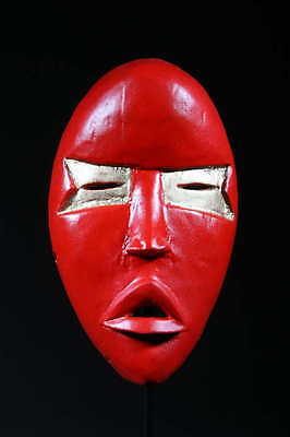 Art Contemporary African Mask Dan Red