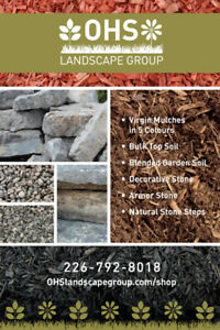 BULK Soil, Mulch, Decorative Stone Delivered to your Driveway!