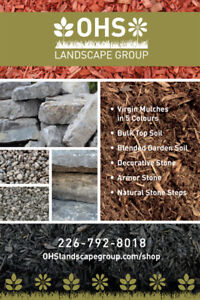 Looking for Mulch, Soil, or Decorative stone?