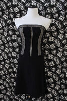 Black & Nude Lace Gothic Strapless Knee-Length Dress