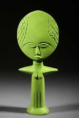 Art Contemporary African Doll Ashanti Green