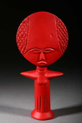Art Contemporary African Doll Ashanti Red