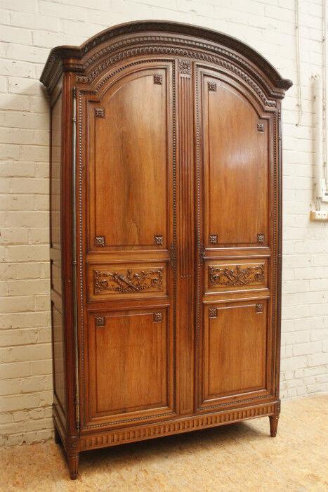 Large Antique French Louis XVI Style 2 Door Armoire Wardrobe