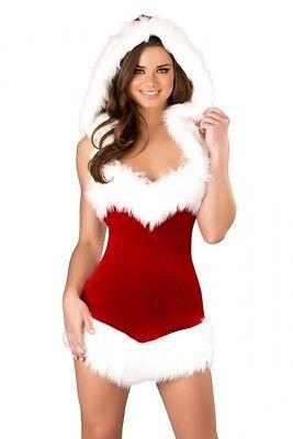 chtskostüm Kleid Größenwahl NEU S/M M/L Stretch Samt X-mas  (Weihnachten Santa Kostüme)