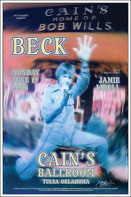 BECK 2006 Original Signed Cain's Ballroom Tulsa Concert Poster