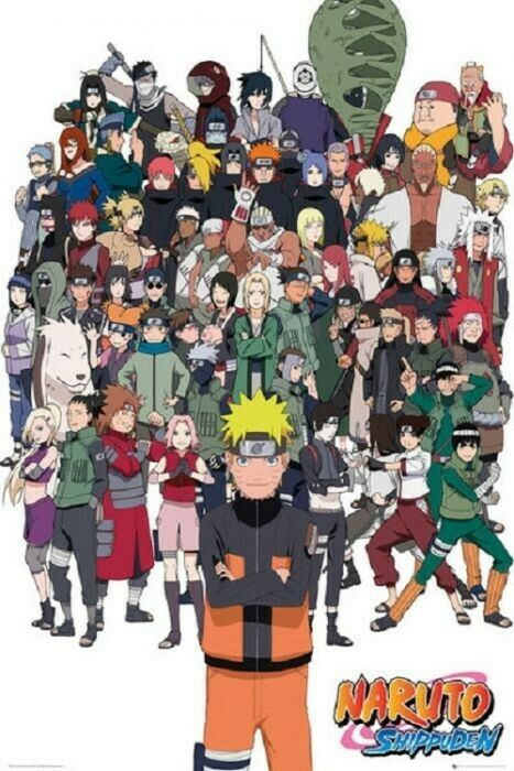 Naruto-Shippuden group Poster 24 x 36 New Anime