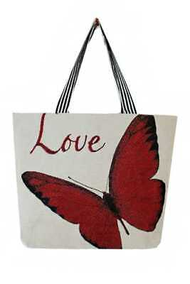 - SUMMER BEACH CANVAS TOTE BAGS WITH VARIOUS BUTTERFLY PRINTED DESIGNS