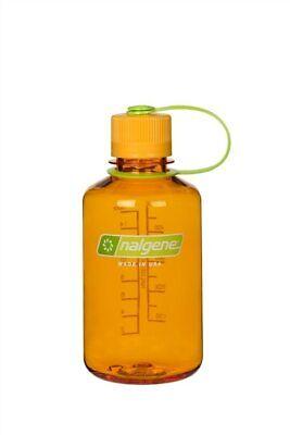 Nalgene Narrow Mouth 16oz Loop Top Water Bottle Clementine w/Orange Lid BPA covid 19 (Nalgene Narrow Mouth Loop Top coronavirus)