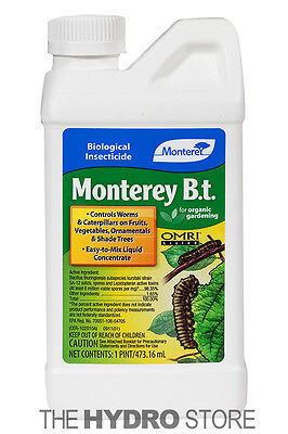 Monterey B.T. 1 Pint - Bacillus Thuringiensis Organic Insect Pest Control pt BT