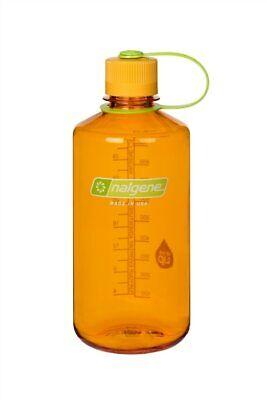 Nalgene Narrow Mouth 32oz Loop Top Water Bottle Clementine w/Orange Lid BPA covid 19 (Nalgene Narrow Mouth Loop Top coronavirus)