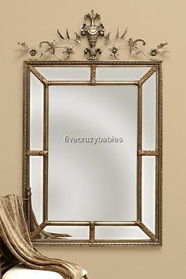 "Extra Large 63"" Ornate VICTORIAN Divided Wall Mirror Vanity Mantle HORCHOW"