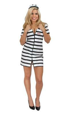 BAD GIRL DOUBLE ZIP PRISONER HALLOWEEN COSTUME ADULT SIZE SMALL 5-7](Halloween Costumes Prisoner Girl)