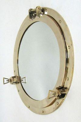 """20"""" Brass Porthole Mirror ~ Polished Finish ~Nautical Maritime ~ Cabin Port Hole"""
