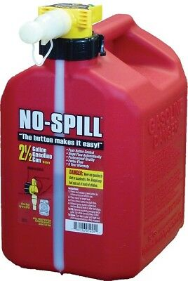 No-spill Gasoline Fuel Gas Can Red 2.5 Gallon 11.75x8x10 1405