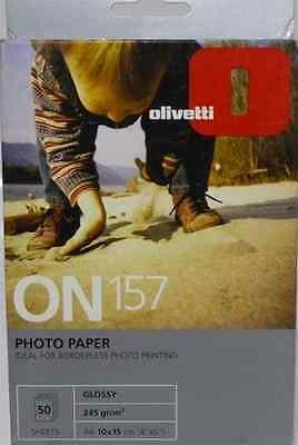 100 PZ. CARTA FOTOGRAFICA PROFESSIONALE 245 GR A6 10 X 15 CM GLOSSY OLIVETTI
