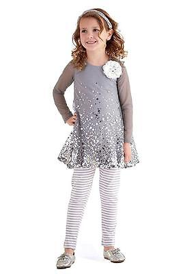 New Girls Boutique Peaches n Cream sz 5 Silver Sparkle Outfit Christmas Holiday