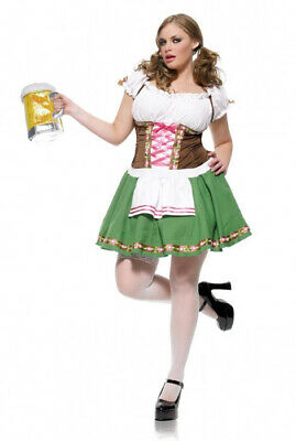 Brand New Gretchen Beer Girl Bar Maid October Fest Plus Size Costume](Plus Size Beer Girl Costume)