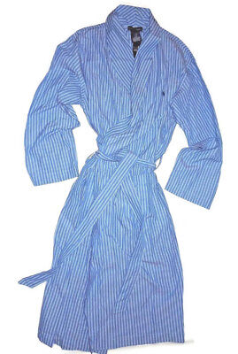 Polo Ralph Lauren mens wrap Blue striped Robe  Small / Medium
