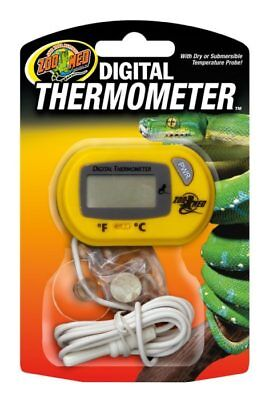 Zoo Med Digital Terrarium Thermometer with Temperature Probel Reptile Terrarium
