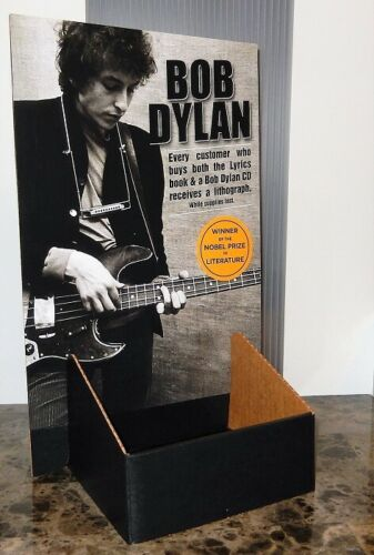 BOB DYLAN LYRICS 2016 PROMO CD COUNTER DISPLAY