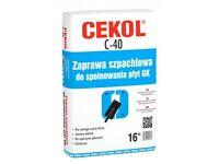 Bags of Cekol C-40 finishing plaster bargain