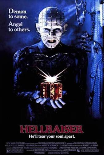 HELLRAISER - CLASSIC MOVIE POSTER 24x36 - 38678